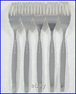5 VTG Oneida FROSTFIRE Community Stainless Flatware DINNER FORKS 7 1/4 Retired