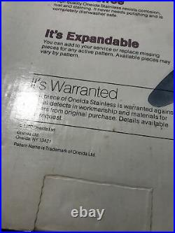 50 PCS ONEIDA SSS STAINLESS STEEL RENOIR PEMBROOKE FLATWARE Set For 8 In Bags