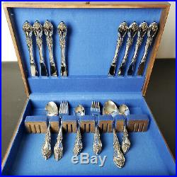 50 Piece Oneida Community Louisiana Stainless Flatware Set Service For 8 W Chest