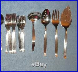 52 PC Service Oneida Community FROSTFIRE Stainless Flatware Serving Set