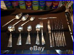 52 pc nice set vintage Community Stainless Morning Star flatware svc for 8+