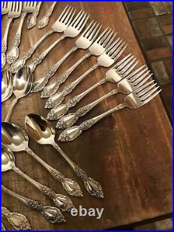 (53Pc) ONEIDA WORDSWORTH Stainless Flatware Service for 8 + 5 Serving pieces
