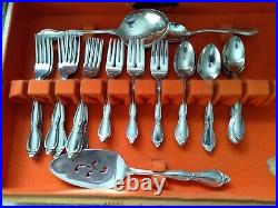 54 Pc Set Oneida Community Stainless Flatware In The Chatelaine Pattern