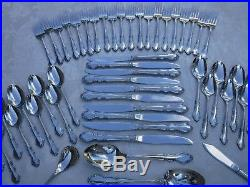 54pc Oneida DOVER Stainless Steel Flatware for 10 Cube Backstamp