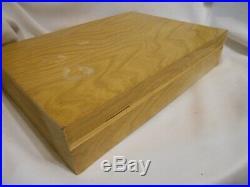 55 Pc Vintage Oneida Community TWIN STAR Atomic Stainless Flatware Set w chest