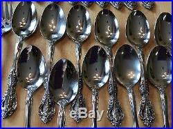 55 Pieces ONEIDA MICHELANGELO CUBE Stainless Flatware Service