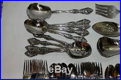 56 Pcs Service for 6 ++ Heirloom by Oneida MICHELANGELO Stainless Steel Flatware