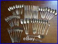 56 pieces Oneida My Rose Community Stainless Flatware serving fork tea spoons+