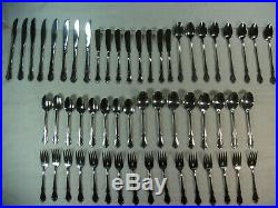 56pc Oneidacraft Deluxe Stainless Community Chateau Pattern Flatware