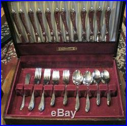 57 Piece Service For 8 Oneida Oneidacraft Deluxe Stainless Shasta Pattern USA