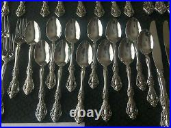 57 Pieces Serves 10 Oneida Michelangelo CUBE Stainless with5 Hostess & 12 Teaspoon