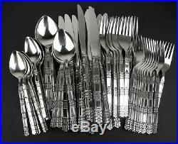 58 Pc Set Oneida Community Madrid Stainless Dinner Knives Forks Spoons MCM