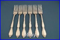6 Dinner Forks Oneida Community CHATELAINE Stainless Flatware 7 1/4