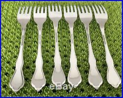 6 Oneida MORNING BLOSSOM Dinner Forks Stainless Flatware Burnish Handle