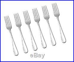 6 PACK Oneida Flight Stainless Steel Dinner Fork Set. Kitchen Silverware Dining