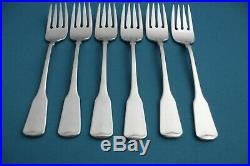 6 Salad Forks Oneida AMERICAN COLONIAL CUBE Stainless 6 1/2