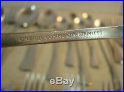 60 Assorted Pieces of Oneida Community PATRICK HENRY Stainless Flatware GUC
