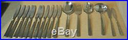 60 Oneida USA Stainless Steel Flatware Glossy Svc for 8 Plus Serving EASTON