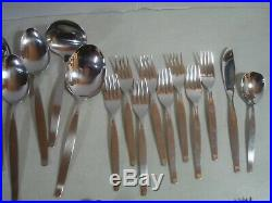 60 PC (SERVICE FOR 8) Oneida Community FROSTFIRE Stainless Flatware EXC