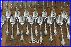 60pc for 12 MANSFIELD AMADEUS Oneida Rogers Stainless Flatware fork spoon knife