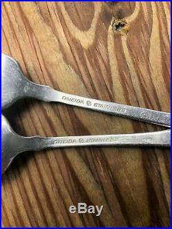 60pcs Oneida American Colonial Stainless Flatware Cube Mark