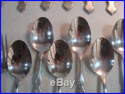 61 PC Assorted Lot Oneida Distinction Deluxe HH VALERIE Stainless Flatware GUC