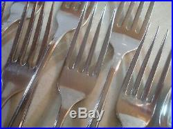 61 PC SERVICE FOR 12(-1) Oneida MAESTRO ST ABERDEEN Stainless Flatware VGUC