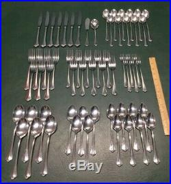 62 Pcs Oneida Distinction Deluxe Stainless Westgate Royal Crest Flatware