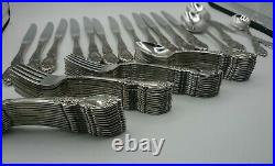 63 Pc ONEIDA WORDSWORTH Stainless Flatware Service Set for 12 + 4 Serving pieces