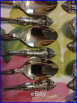 65 Oneida 18/10 Heirloom Michelangelo Stainless Flatware! 12 Place +serving Pc