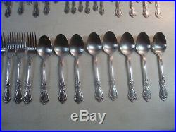 65 PC SERVICE FOR 8+ Oneida Distinction KENNETT SQUARE Stainless Flatware GUC