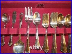 65 Pcs TRUE ROSE/ARBOR ROSE 1881 Rogers Stainless Oneida Ltd. Svc for 12