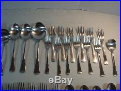 66 PC SERVICE FOR 12 Oneida Community PATRICK HENRY Stainless Flatware EXC. #W