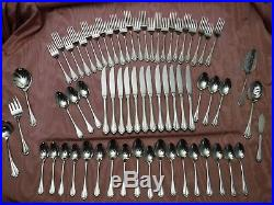 66pc Oneida Community Cube Marquette Stainless Steel Flatware for 12
