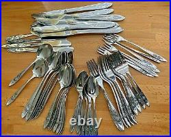 67 Pc ONEIDA Betty Crocker Community Stainless MY ROSE Service For 8 + Serving