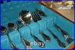 67 Piece Oneida Oneidacraft Chateau Deluxe Stainless Flatware Service For 12