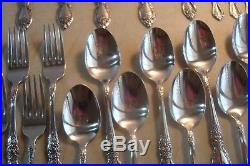 68 PC SERVICE FOR 12 (MINUS 1) Oneida USA WORDSWORTH Stainless Flatware NICE