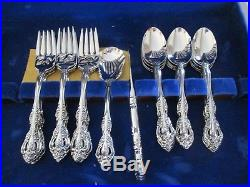 68Oneida Stainless Steel Flatware Svc for 12 withChest Michelangelo Cube Mark