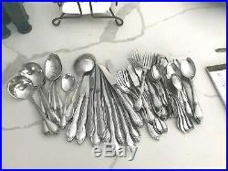 69 pc Set Oneida CHATELAINE Community Stainless Flatware Spoon Fork Knife serve