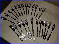 70 Pieces Oneida Community Stainless My Rose Flatware