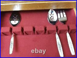 70 pc Vintage NEW Oneida Stainless Flatware Silverware Twin Rose Service for 12