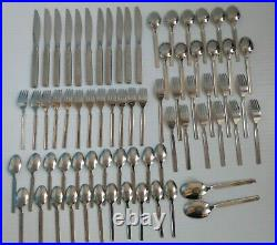 71 Piece Rogers Stainless Oneida Flatware Majorca Pattern Set for 11 + Extras