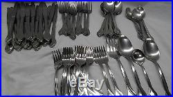 71 pieces Oneida USA tribeca stainless flatware seving pieces forks spoons kni