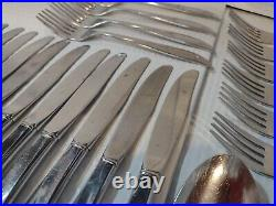 74 PC Set Oneida Community Stainless Steel Twin Star Atomic Starburst Flatware