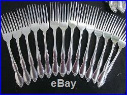 75 PIECE ONEIDA COMMUNITY CHATELAINE stainless flatware silverware