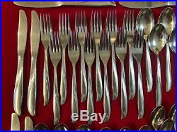 75 Piece Lot Oneida Twin Star Stainless Flatware Silverware Many Serving Pieces