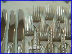 76 PC SERVICE FOR 12 Oneida Community CELLO Stainless Flatware NICE #K8