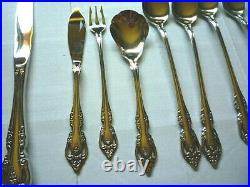 77 Pieces of Brahms- Onieda Community Stainless Flatware5 Piece Setting For 12