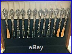 77pc. SERVICE FOR 12 ONEIDA MICHELANGELO STAINLESS CUBE MARK USA UNUSED VINTAGE