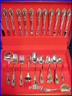 79 PC SERVICE FOR 12 Oneida USA WORDSWORTH Stainless Steel Flatware EXCELLENT